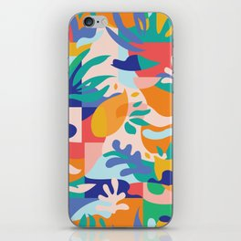Amalfi Abstraction Pattern / Colourful Modern Shapes iPhone Skin