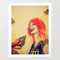 hayley williams Art Prints featuring Hayley Williams by Mary Agoncillo
