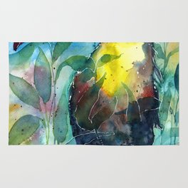 TOUCAN, watercolor illustration (nature) Rug