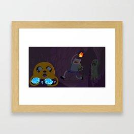 Minecraft Time Framed Art Print