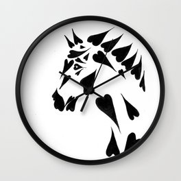 Heart Horse Wall Clock