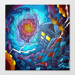 Tardis stained glass style Canvas Print