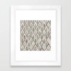 Art Deco Marble Pattern Framed Art Print