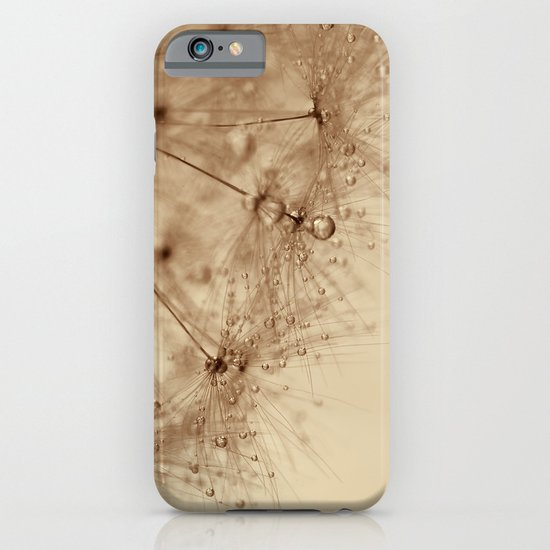 droplets of gold - dandelion iPhone & iPod Case