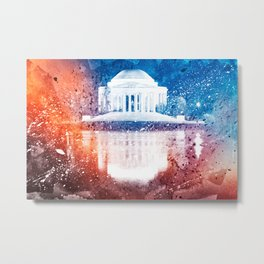 Jefferson Memorial - Vibrant Acrylic Fantasy Metal Print