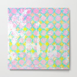 Stencil overlay pink 2 Metal Print