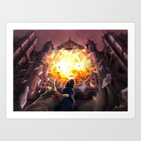 Ballad of fallen angels Art Print
