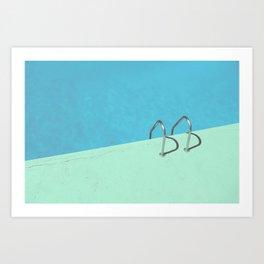 Summer Pool III - Mint Art Print