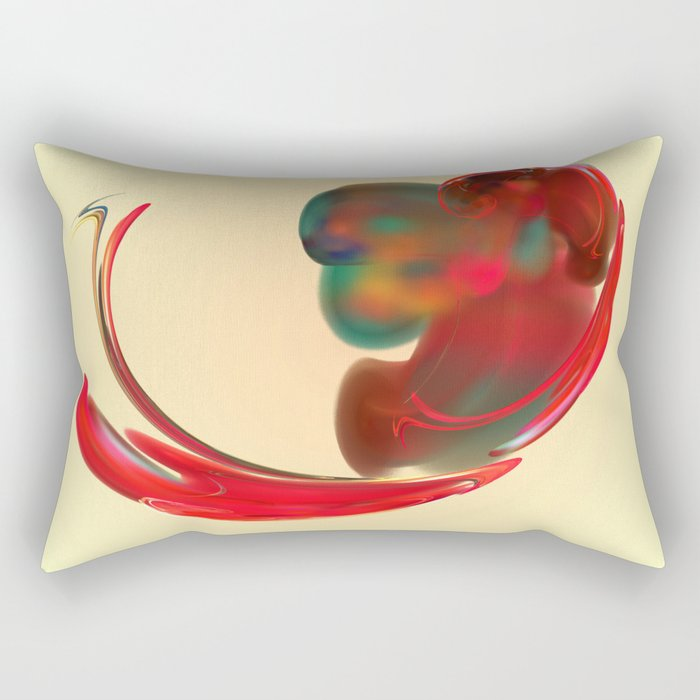 the red   (A7 B0131) Rectangular Pillow
