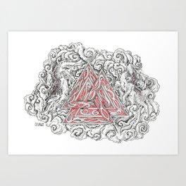 Geri & Freki Art Print
