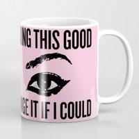 nicki Mugs featuring Wake Up, Flawless (Pink) by paginnation