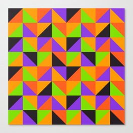 Colorful triangles pattern for Summer or Halloween Canvas Print