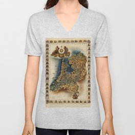 Map of Holland Unisex V-Neck