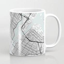 Central Park New York Blue Water Street Map Coffee Mug