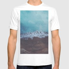 Oceans away White Mens Fitted Tee MEDIUM