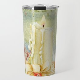 Christmas vintage candle Travel Mug