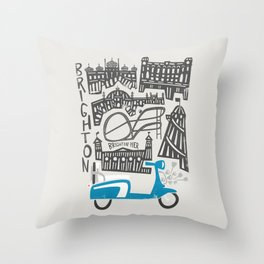 Brighton Cityscape Throw Pillow