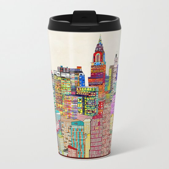 new york city skyline Metal Travel Mug