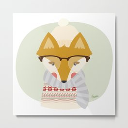 Cold Fox Metal Print