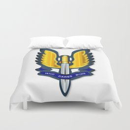 Special Air Service Badge Duvet Cover