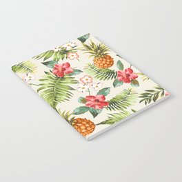 pineapple with tropical flower Notebook