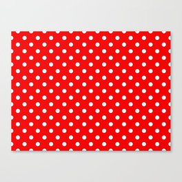 Girls just wanna have dots - red/white Canvas Print