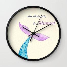 Be a Mermaid Wall Clock