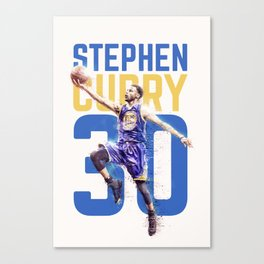 Steph Curry Warriors Canvas Print