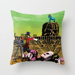Never ending day Throw Pillow