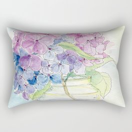 Hydrangea, Still Life Rectangular Pillow