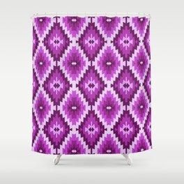 Kilim violet , purple, lilac, bohemian, Shower Curtain