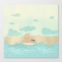 pirate ship Canvas Prints featuring pirate ship...  by studiomarshallarts