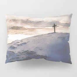 Christian Cross On Mountain Pillow Sham