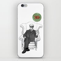 freud iPhone & iPod Skins featuring Freud by Roberta Zeta