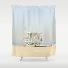 NEVER STOP EXPLORING VENICE BEACH No. 23 Shower Curtain