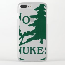 no nukes Clear iPhone Case