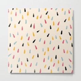 Abstract Colorful Retro Colored Rain Drops - Imugi Metal Print