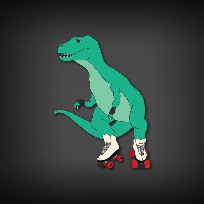 Tyrollersaurus Rex Duvet Cover