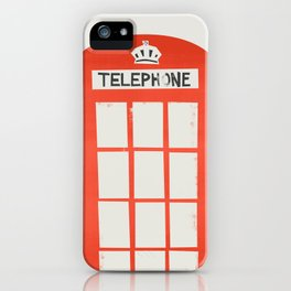 Red London Telephone Box iPhone Case