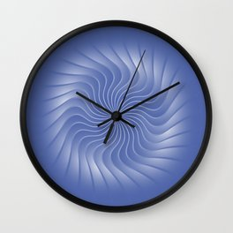 Turbine in Blue Wall Clock