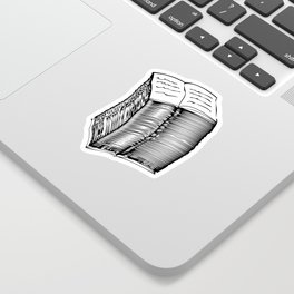 Read and Write A to Z Black on White Sticker