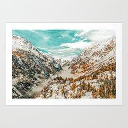 Winter Home #digitalart #photography Art Print