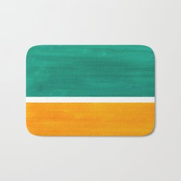 Colorful Bright Minimalist Rothko Minimalist Midcentury Art Marine Green Gold Vintage Pop Art Bath Mat