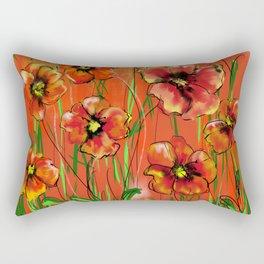 Poppy day Rectangular Pillow