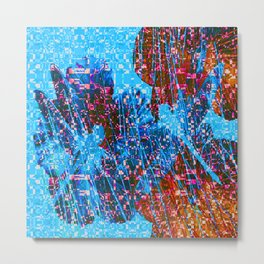 Mosaic Dragonflies QQ Metal Print