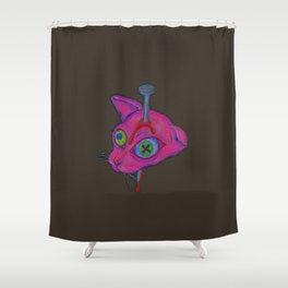 Killed The Cat Shower Curtain
