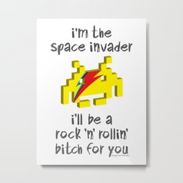 I'm the space invader Metal Print