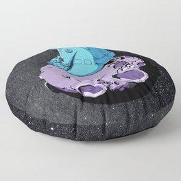 Astronaut on the moon. Floor Pillow