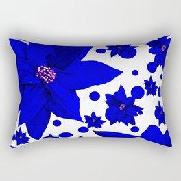 Poinsettia Holiday Pattern Rectangular Pillow