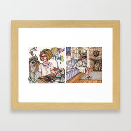 Looting the Countryside/To the Victor go the Spoils Framed Art Print
